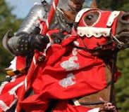 rycerz konia średniowieczna jazda Obrazy Stock