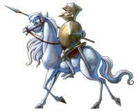 Rycerz na białym koniu Zdjęcia Stock
