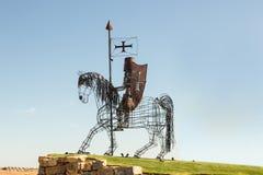 Rycerz rzeźba, Castro Marim, Portugalia Obraz Stock