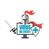 Rycerza antivirus ilustracji
