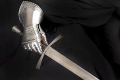 Rycerza metalu rękawiczka zdjęcia royalty free