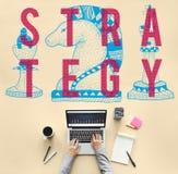 Rycerza Szachowego kawałka strategii grafiki pojęcie Obraz Stock