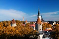 Rycerze średniowieczny miasto Fotografia Royalty Free