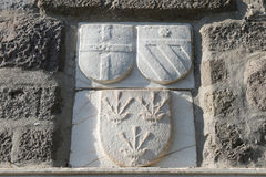 Rycerzy symbole w Bodrum kasztelu zdjęcia stock