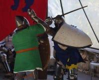 2 rycerzy turniej Obrazy Royalty Free