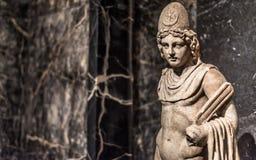 Rycynowa lub Pollux marmurowa statua od Włochy zdjęcia stock