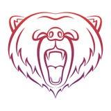 Ryczący niedźwiadkową ikonę odizolowywającą na białym tle Obraz Royalty Free