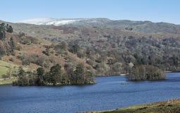 Rydal水在湖区, Cumbria,英国看法  免版税库存照片