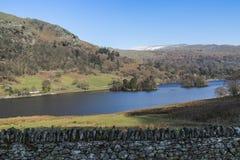 Rydal水在湖区, Cumbria,英国 库存图片