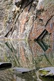 Rydal water cave reflection Stock Photos