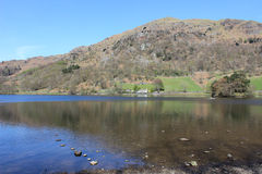 Rydal Water, English Lake District Cumbria England. Looking north across Rydal Water (lake) in the English Lake District, Cumbria, England with Nab Scar the fell Royalty Free Stock Photography