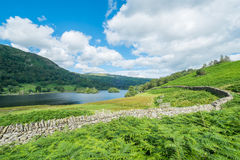 Rydal Water in the Lake District. Royalty Free Stock Images