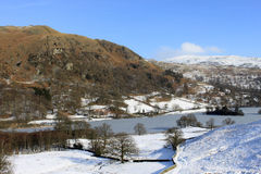 Rydal Water and Nab Scar, English Lake District. Stock Photo