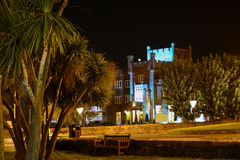 Ryde Castle at Night. Ryde Castle Hotel and Restaurant is a traditional English manor situated on Ryde Seafront on the Isle of Wight, UK. It was restored and Stock Image
