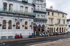 Ryde, isla del Wight, hoteles de la orilla del mar, explanada Fotos de archivo