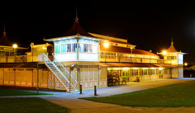 Ryde Pavilion at Night. The Pavilion at Ryde on the Isle of Wight, UK, illuminated at night. The Pavilion was built in 1926 by Vincent and West architects from Royalty Free Stock Image