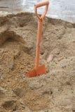 (rydel) łopata i piasek Obraz Stock