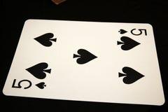 5 rydle od pokładu karty zdjęcia royalty free