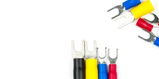 Rydli terminali kablowego włącznika elektryczni akcesoria Obrazy Royalty Free