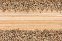 Rye on a bamboo mat Royalty Free Stock Photography