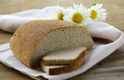 Rye black bread Royalty Free Stock Photos