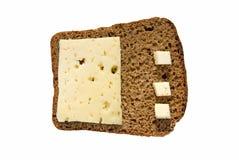 Rye bröd med ost royaltyfri foto