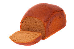 Rye bread. Loaf of fresh bread. A white background Royalty Free Stock Photography