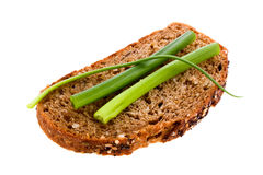 Rye bread. With green onion Stock Image