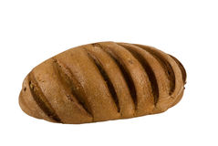 Rye bread. The whole loaf of rye bread close up on white background Stock Images