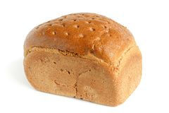 Rye bread. On the white background Stock Image