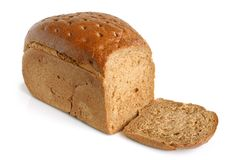 Rye bread. On the white background Royalty Free Stock Image