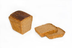 Rye bread. Is cut on a white background Stock Photography