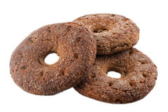 Rye bread. Traditional Finnish rye bread on a white background Stock Photos