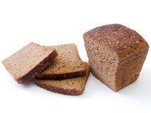 Rye bread. Cut loaf of rye bread Royalty Free Stock Photography