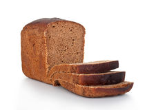 Rye bread. On a white background Stock Images