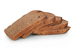 Rye bread. On a white background Stock Photo