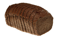 Rye bread. Pieces of raye bread over white Royalty Free Stock Image