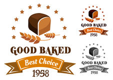Rye bread banner or label Royalty Free Stock Photos