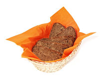 Rye bread in basket Royalty Free Stock Images