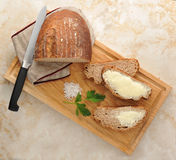 Rye bread on the Board Stock Image