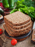 rye bread with bran Stock Image