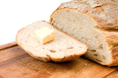 Rye bread and butter Royalty Free Stock Image