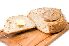 Rye bread and butter Royalty Free Stock Photography