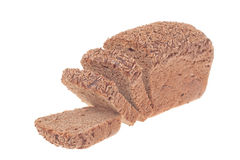 Rye bread with caraway. Isolated, on white background stock photo