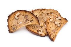 Rye bread crisps with walnuts. Stock Images