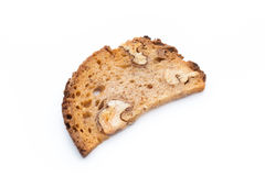 Rye bread crisps with walnuts. Royalty Free Stock Photography