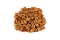 Rye bread croutons. For soups and broths Stock Photos