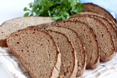 Rye bread, cut into chunks Royalty Free Stock Photography