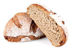 Rye bread cut in half Royalty Free Stock Photo
