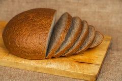 Rye bread on a cutting Board stock image